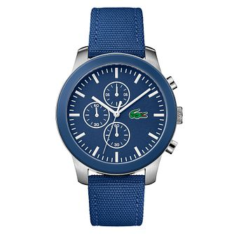 Lacoste 12.12 Men's Blue Fabric Strap Watch - Product number 4460006