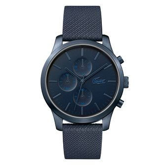 Lacoste 12.12 Men's Blue Silicone Strap Watch - Product number 4460022