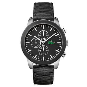 Lacoste 12.12 Men's Black Fabric Strap Watch - Product number 4460030