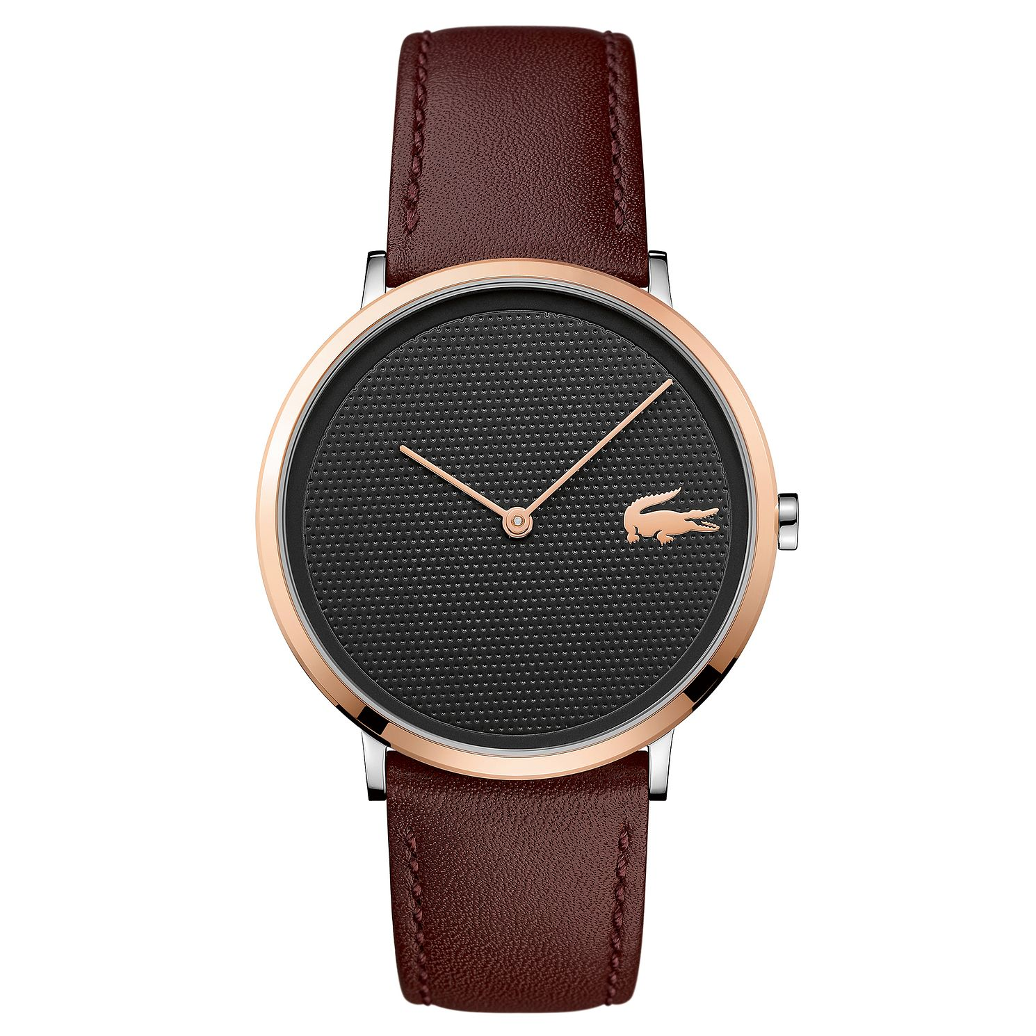 Lacoste Moon Men's Brown Leather Strap Watch - Product number 4460049