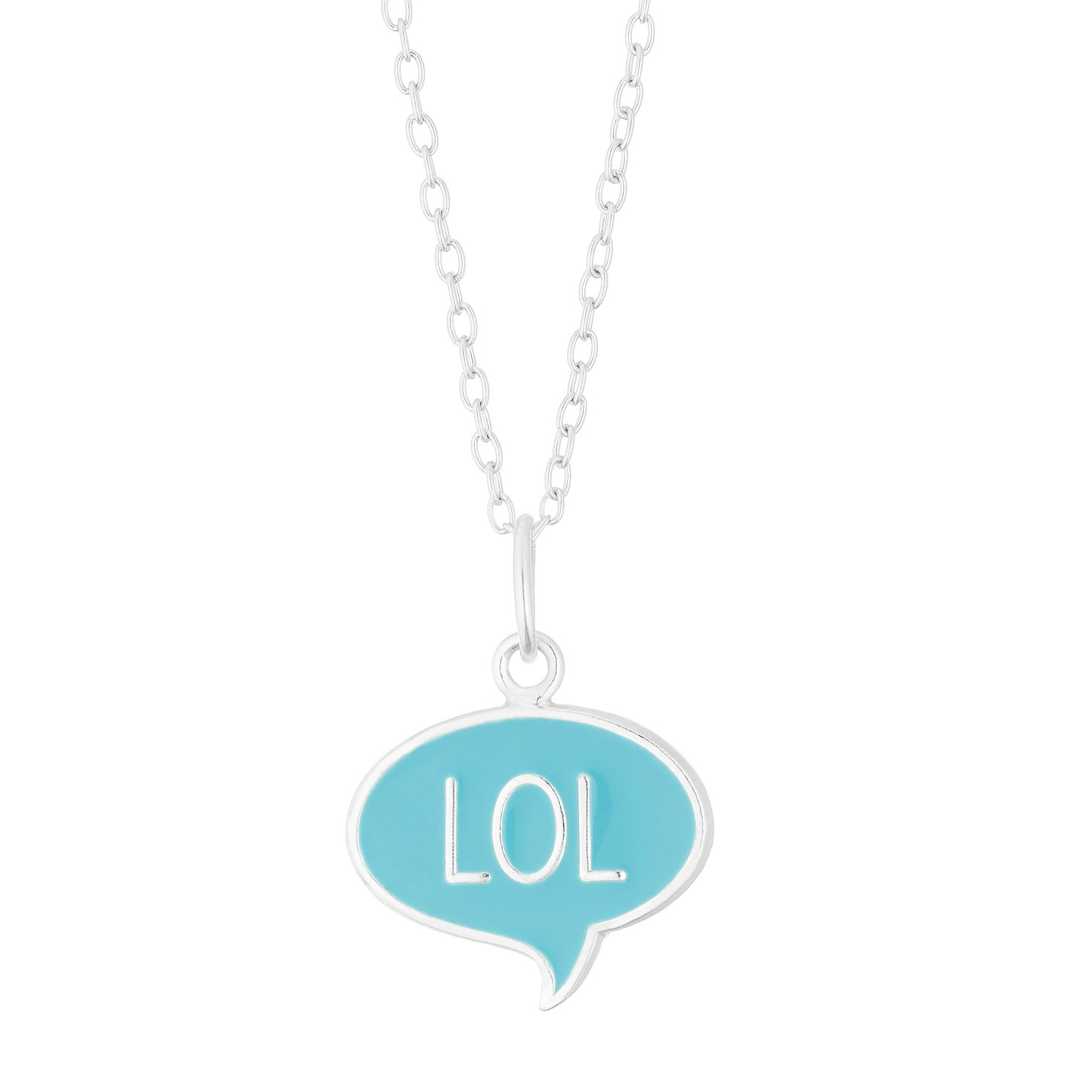 Silver & Enamel Blue LOL Pendant - Product number 4460065