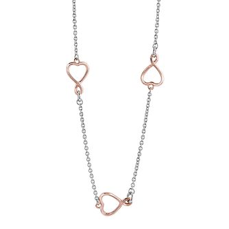 Guess Rose Gold-Plated Triple Heart Necklace - Product number 4460243