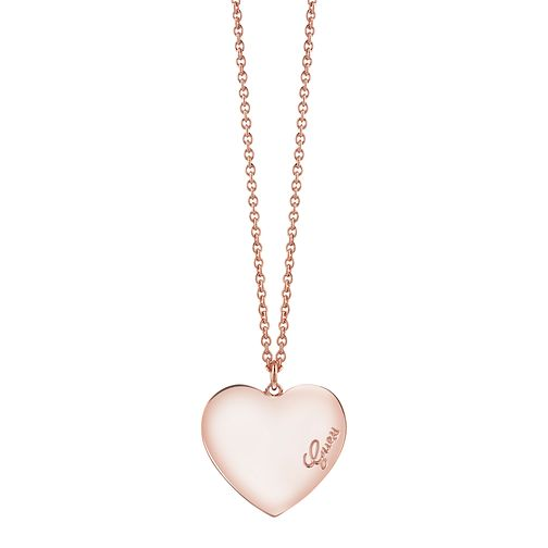 "Guess Rose Gold-Plated Heart Pendant 18""-20"" - Product number 4460812"