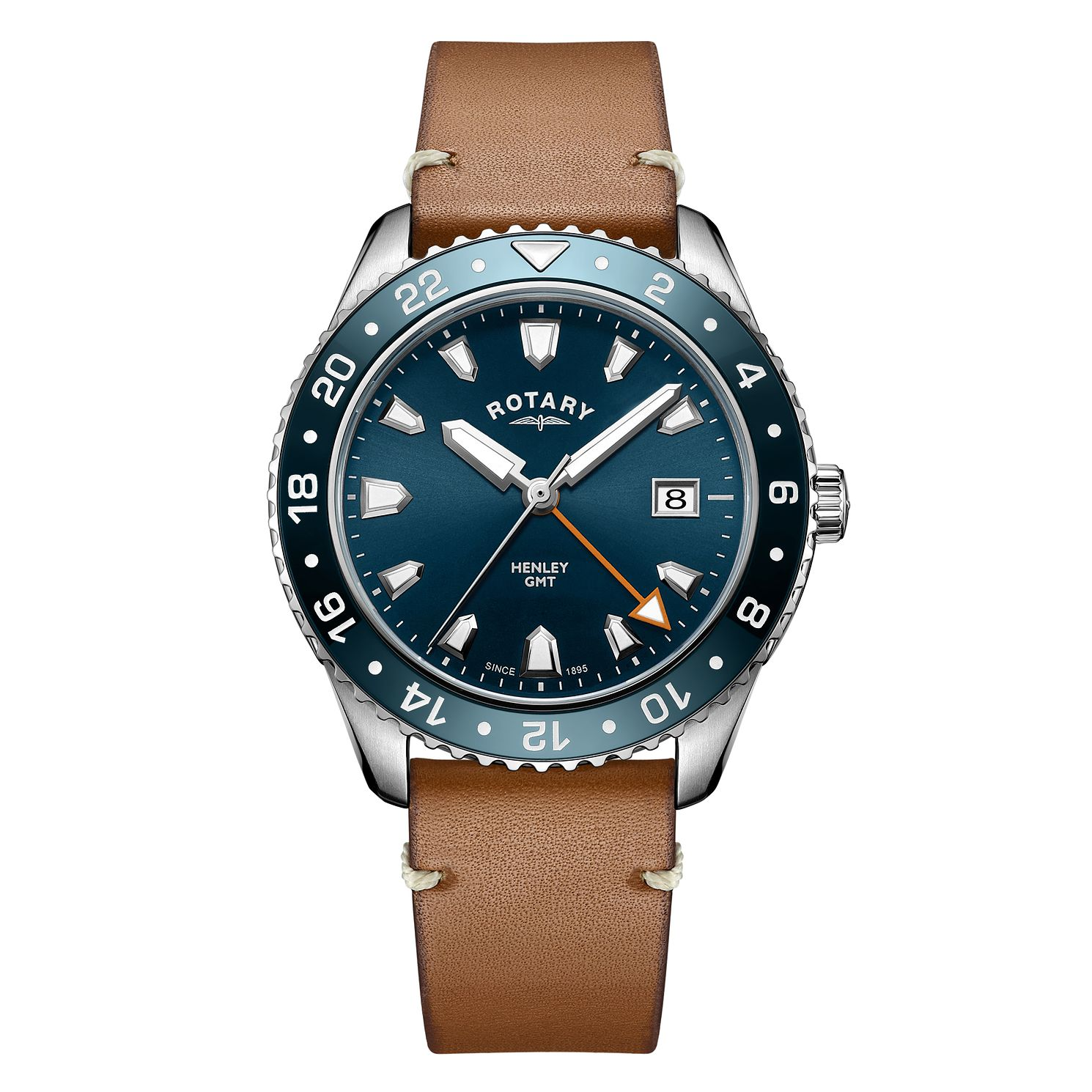 Rotary Henley Men's Brown Strap Watch - Product number 4462777