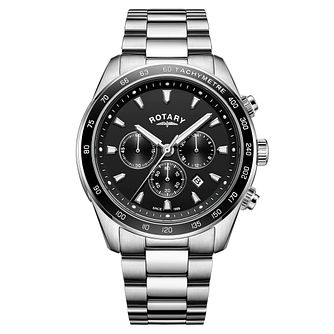 Rotary Henley Men's Black Chronograph Bracelet Watch - Product number 4462793