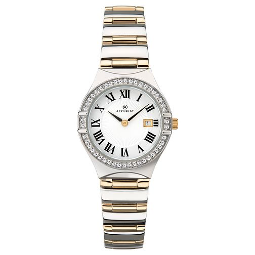 Accurist Ladies' Stone-Set Two Tone Bracelet Watch - Product number 4463846
