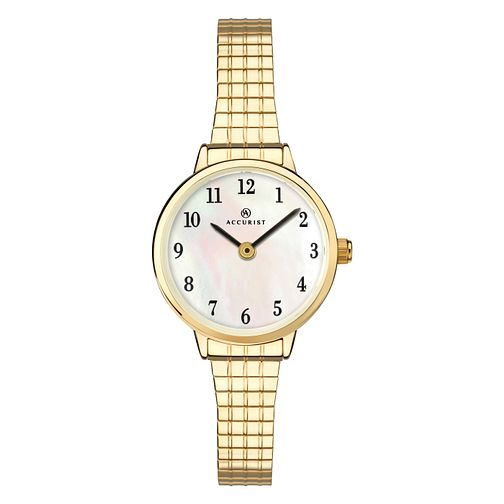 Accurist Ladies' Gold Plated Expander Bracelet Watch - Product number 4463862