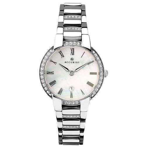Accurist Signature Ladies' Stone-Set Stainless Steel Watch - Product number 4464087
