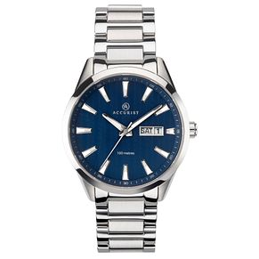 Accurist Signature Men's Blue Dial Stainless Steel Watch - Product number 4464427