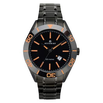 Accurist Signature Men's Black Tone Stainless Steel Watch - Product number 4464443
