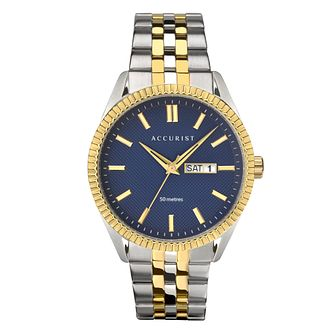 Accurist Men's Stainless Steel Two Tone Bracelet Watch - Product number 4464478