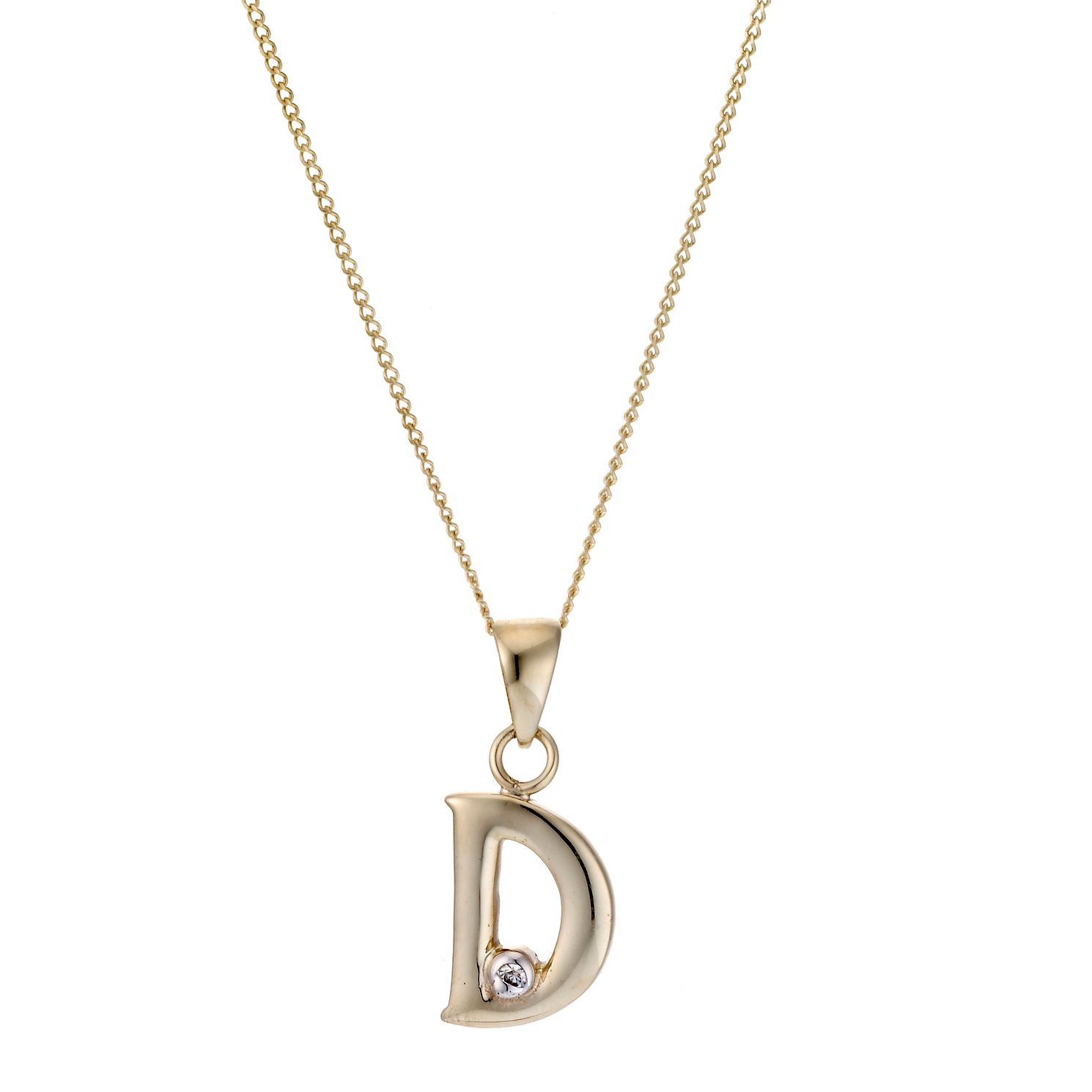 9ct Yellow Gold Letter Pendant D - Product number 4464680