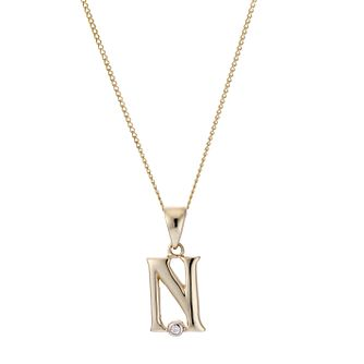 9ct Yellow Gold Letter Pendant N - Product number 4464796