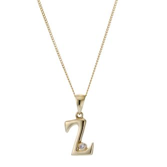 9ct Yellow Gold Letter Pendant Z - Product number 4464923