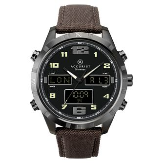 Accurist Men's Brown Strap Analogue & Digital Watch - Product number 4464931