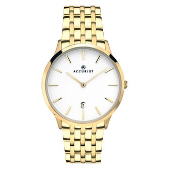 Accurist Signature Men's Gold Plated Stainless Steel Watch - Product number 4465423