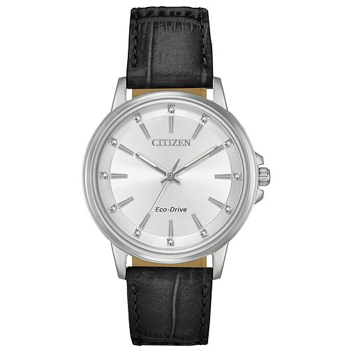 Citizen Eco-Drive Ladies Leather Strap Watch - Product number 4466934