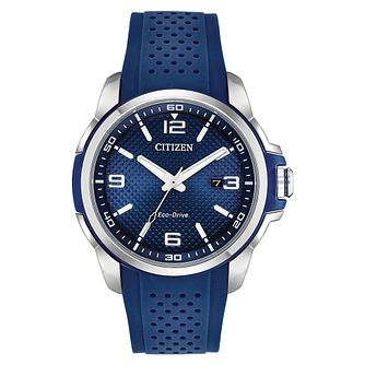 Citizen Eco-Drive Men's Blue Strap Sports Watch - Product number 4466942