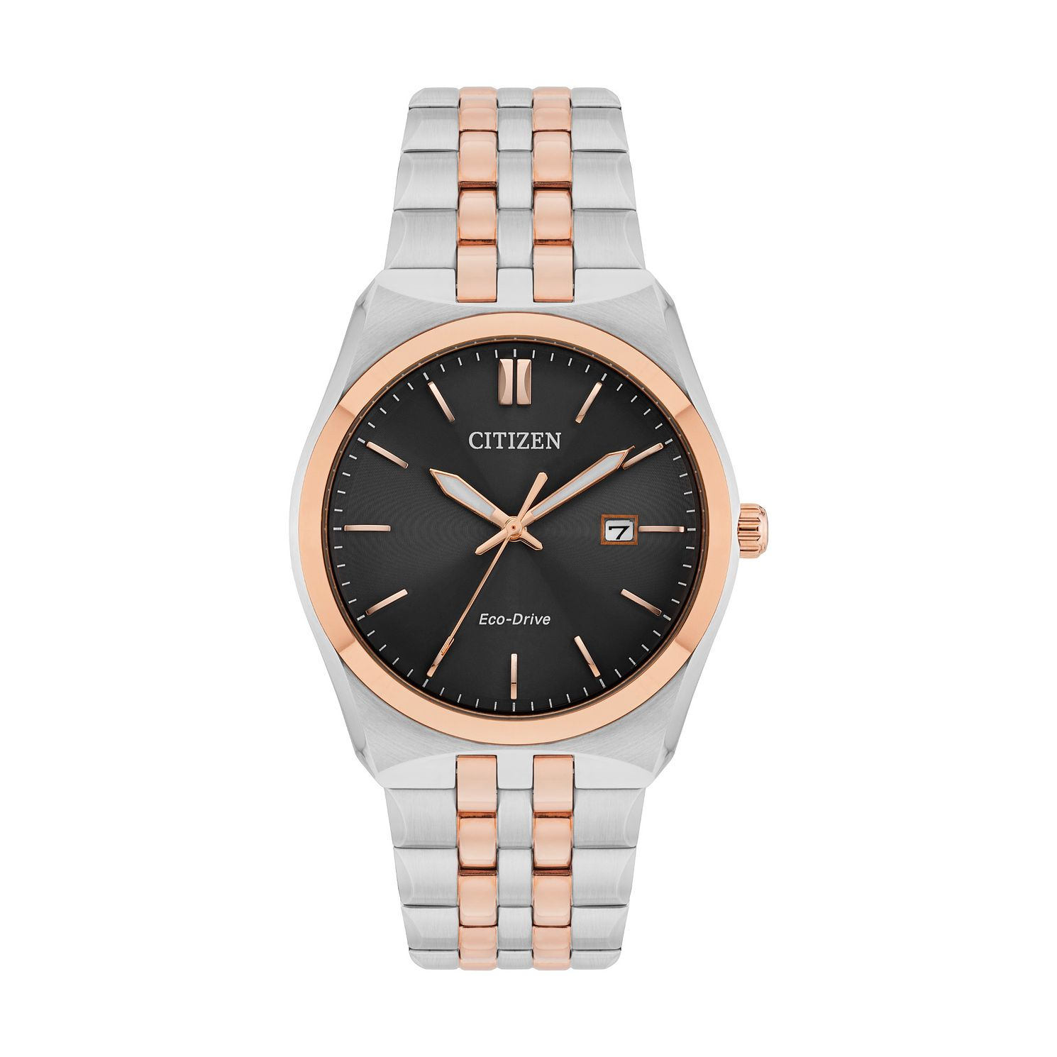 Citizen Eco-Drive Men's Rose Gold Two-Tone Bracelet Watch - Product number 4467043