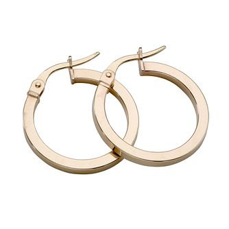 9ct Yellow Gold 15mm Hoop Earrings - Product number 4467590