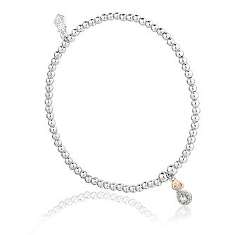 Clogau Silver & 9ct Gold Tree of Life Affinity Bead Bracelet - Product number 4467965