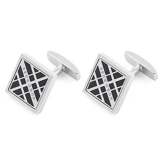 BOSS Cole Men's Brass Black Cufflinks - Product number 4470087