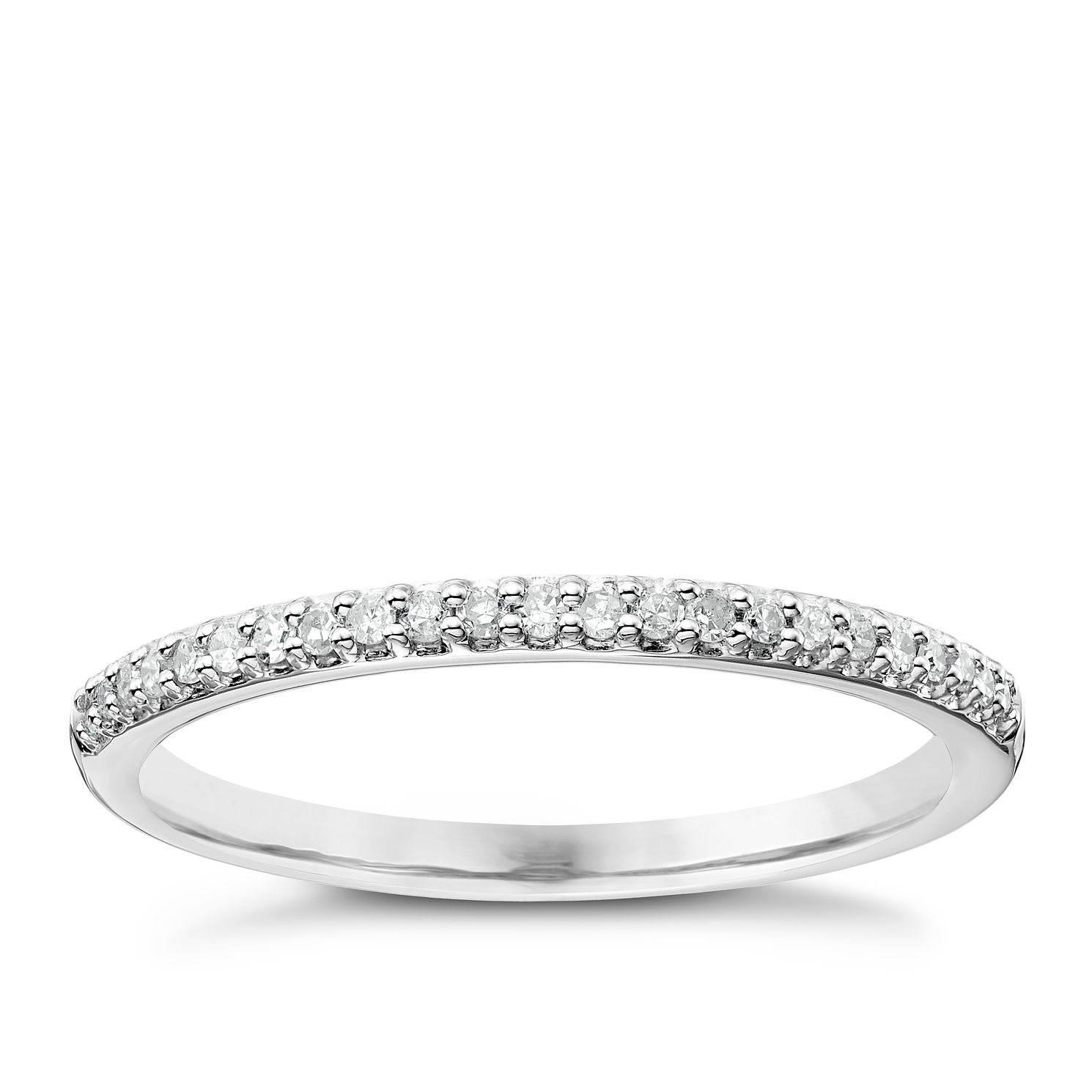 Ladies' Platinum 1/10 Carat Diamond Straight Band - Product number 4470141