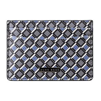 BOSS Signature Men's Diamond Print Leather Cardholder - Product number 4470303