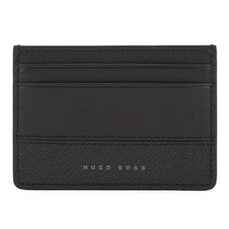 BOSS Men's Black Leather Cardholder - Product number 4470346