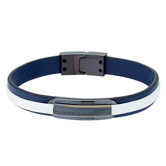 BOSS Brent Men's Blue Leather Bracelet - Product number 4470370