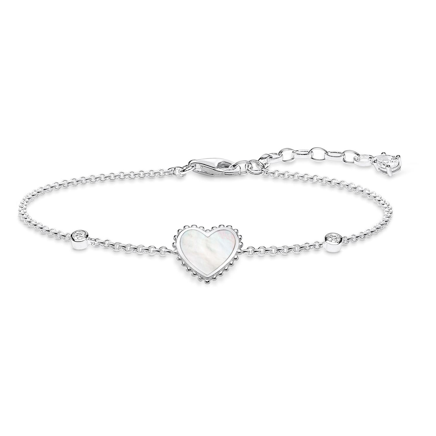 Thomas Sabo Glam Ladies' Heart Mother Of Pearl Bracelet - Product number 4470931