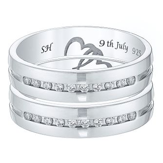 Commitment 9ct White Gold 1/5 Carat Diamond Wedding Ring Set - Product number 4471733