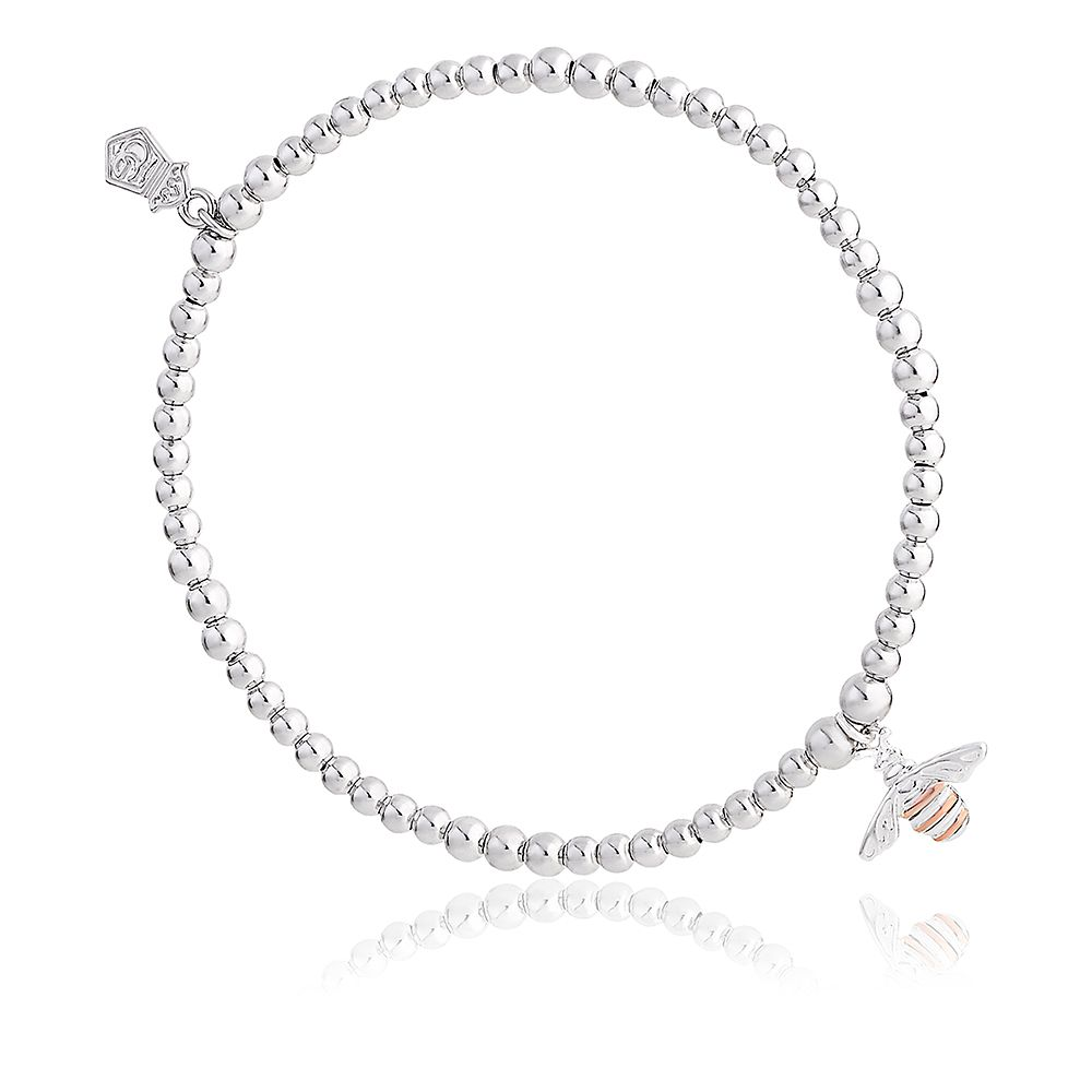 Clogau Silver & 9ct Gold Honey Bee Affinity Bead Bracelet - Product number 4473078