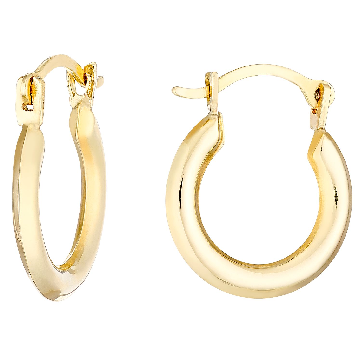 9ct Gold 8mm Creole Earrings - Product number 4473221