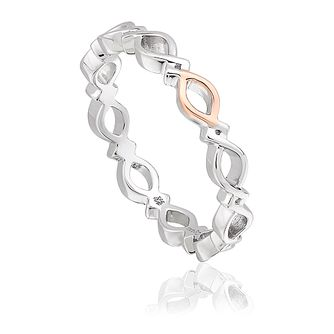 Clogau Silver & 9ct Rose Gold Affinity Stacking Ring - Product number 4473663