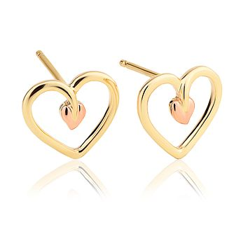 489899bf3 Clogau Tree of Life Heart Stud Earrings - Product number 4474139