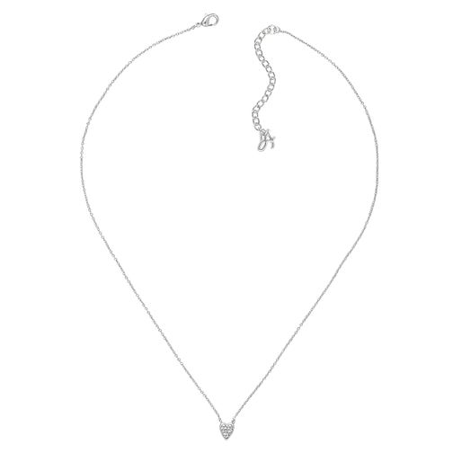 Adore Mini Pave Rhodium Plated Heart Crystal Necklace - Product number 4474759