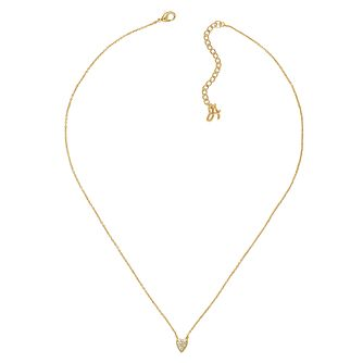 Adore Mini Pave Gold Plated Heart Crystal Necklace - Product number 4474767