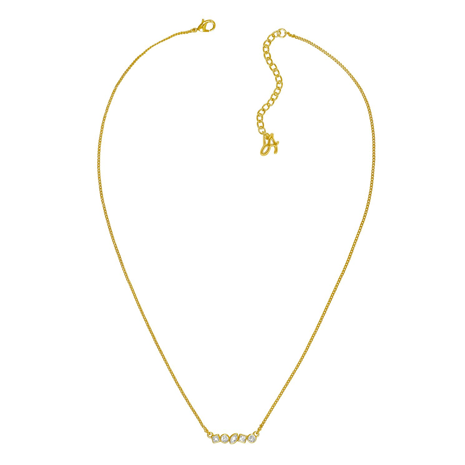 Adore Mini Crystal Gold Plated Bar Swarovski Necklace - Product number 4474821
