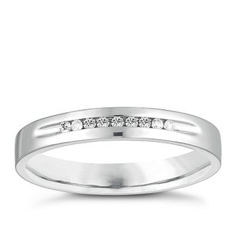 9ct White Gold Diamond Channel Set Wedding Ring - Product number 4474945