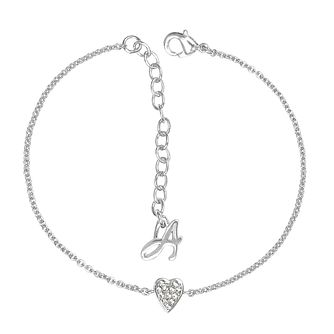 Adore Mini Pave Rhodium Plated Heart Crystal Bracelet - Product number 4475119