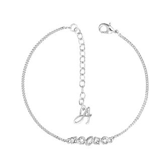 Adore Rhodium Plated Ladies' Mixed Crystal Bar Bracelet - Product number 4475143
