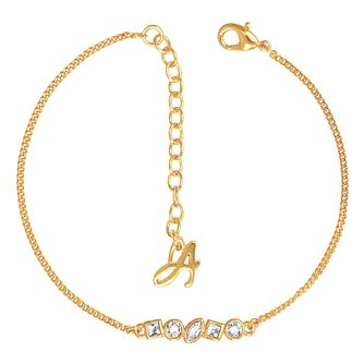 Adore Mini Crystal Gold Plated Bar Swarovski Bracelet - Product number 4475151