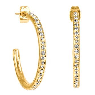 Adore Organic Circle Gold Plated Crystal Hoop Earrings - Product number 4475240