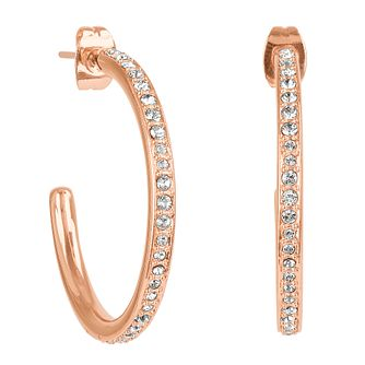 Adore Organic Circle Rose Gold Plated Crystal Hoop Earrings - Product number 4475291