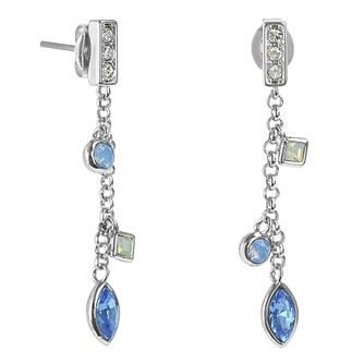 Adore Crystal Charm Rhodium Plated Swarovski Drop Earrings - Product number 4475372
