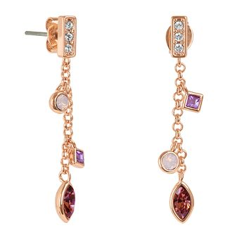Adore Crystal Charm Rose Gold Plated Swarovski Drop Earrings - Product number 4475399