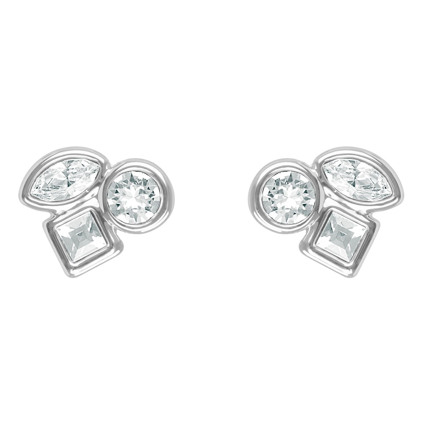 Adore Mini Crystal Rhodium Plated Swarovski Stud Earrings - Product number 4475402