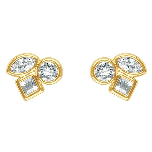 Adore Mini Crystal Gold Plated Swarovski Stud Earrings - Product number 4475410