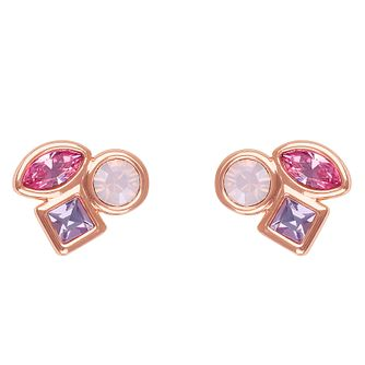 Adore Mini Crystal Rose Gold Plated Swarovski Stud Earrings - Product number 4475429